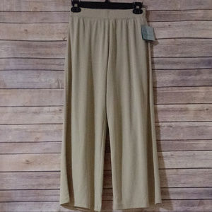 JACLYN SMITH SLIM & SMOOTH SMALL TAN STRETCH PANTS